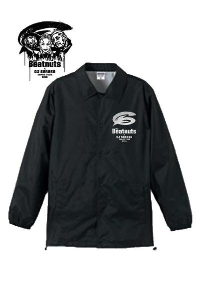 THE BEATNUTS x DJ SARASA Japan Tour 2016 Official Coach Jacket (Black)