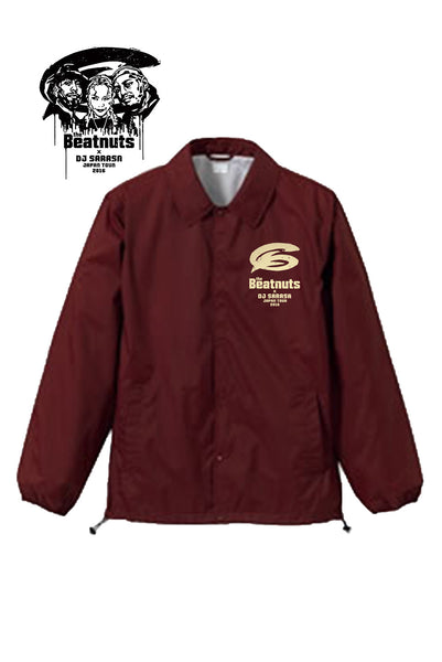 THE BEATNUTS x DJ SARASA Japan Tour 2016 Official Coach Jacket (Burgundy)