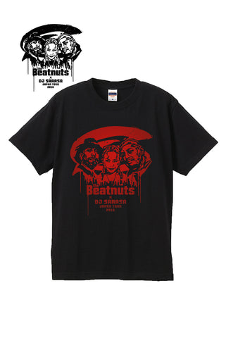 THE BEATNUTS x DJ SARASA Japan Tour 2016 Official Tee (Black x Red)