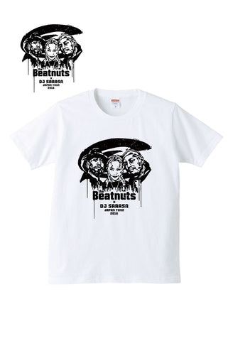 THE BEATNUTS x DJ SARASA Japan Tour 2016 Official Tee (White x Black)