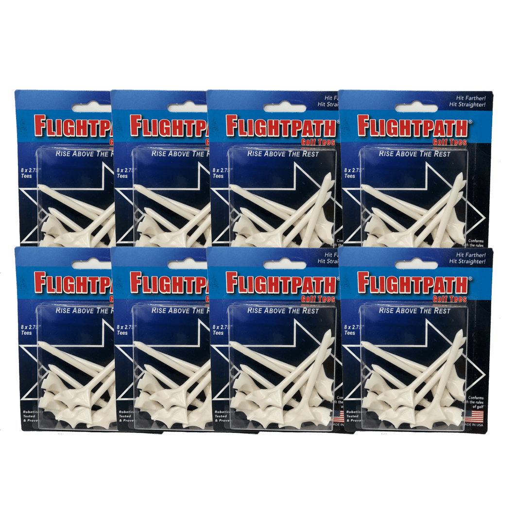 8 Packs Of FlightPath Golf Tees
