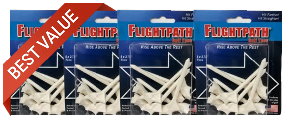 4 Packs of FlightPath Golf Tees