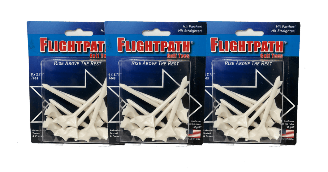 Golf Tees - 3 Packs Of FlightPath Golf Tees