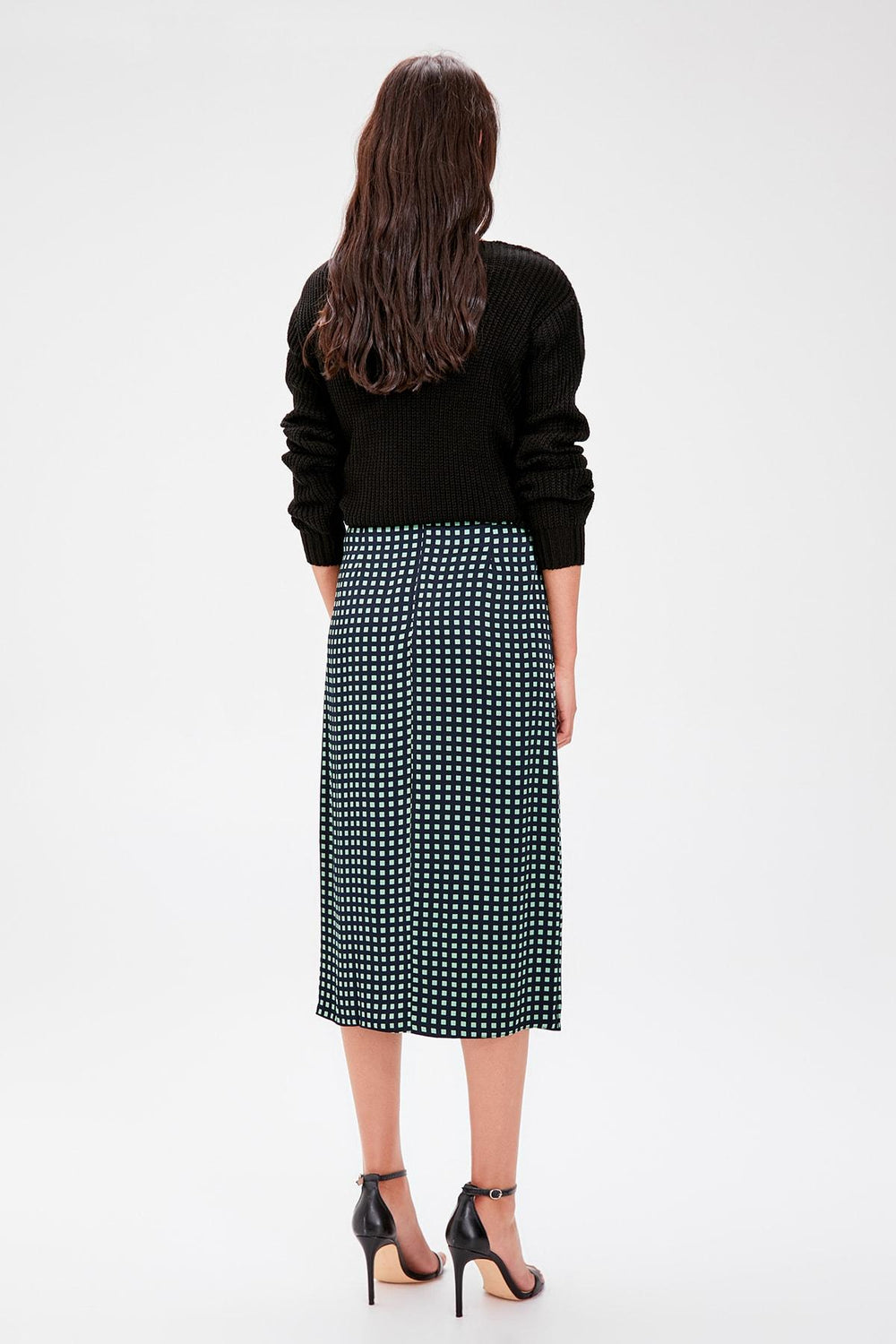 Black Plaid Skirt - Top Maxy