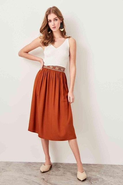 Aesthetic Patterned Skirt Bohemian Style - Top Maxy