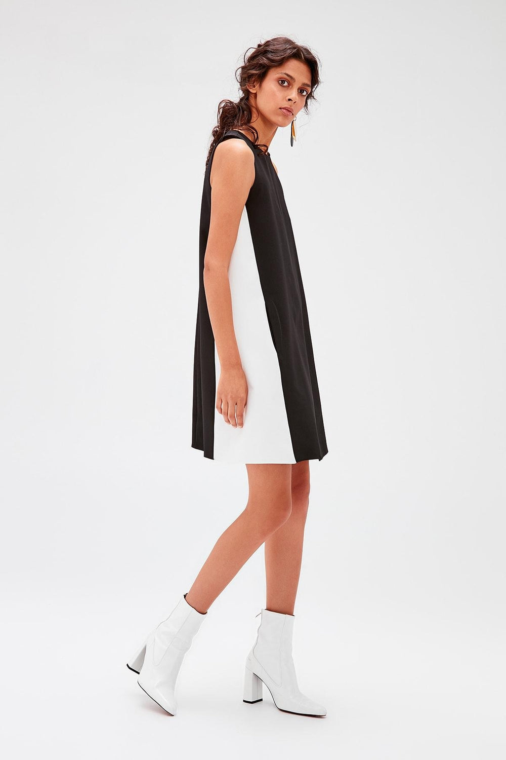 Black With Color Block Dress - Top Maxy