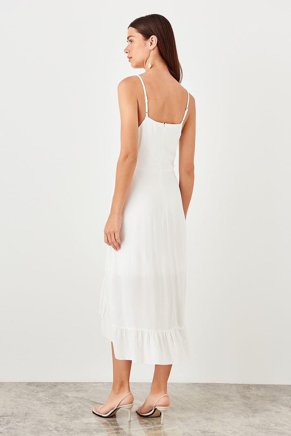 White Halter Dress - Top Maxy