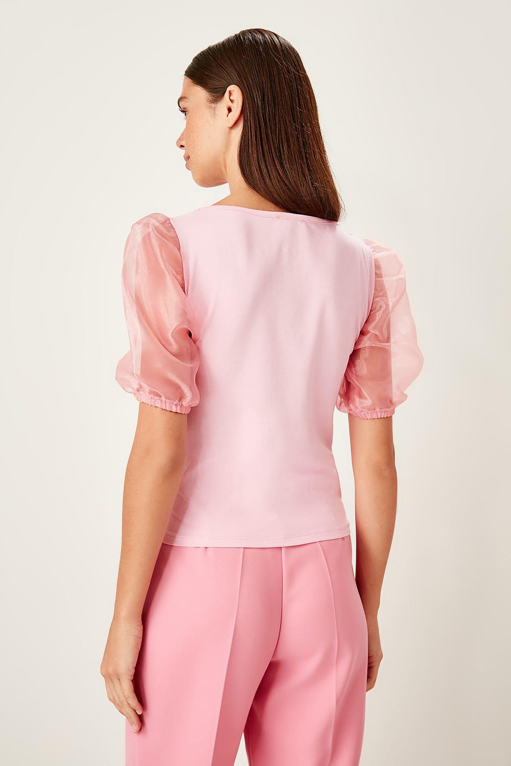 Pink Handles Detailed Knitted Blouse - Top Maxy