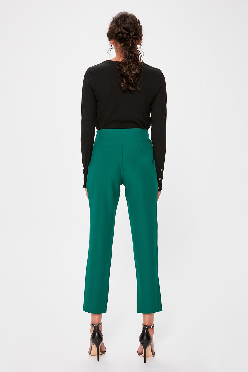 Emerald green Basic Pants - Top Maxy