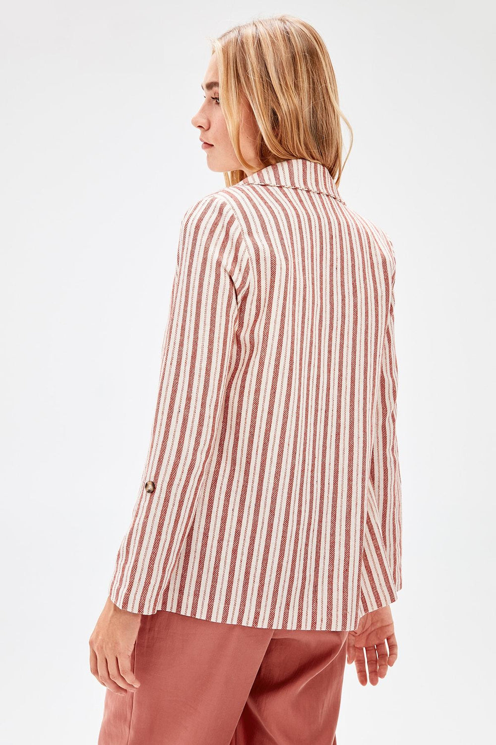 Red Striped Jacket - Top Maxy