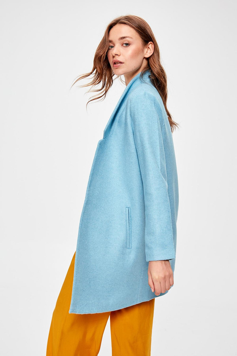 Blue Stamp Coat - Top Maxy