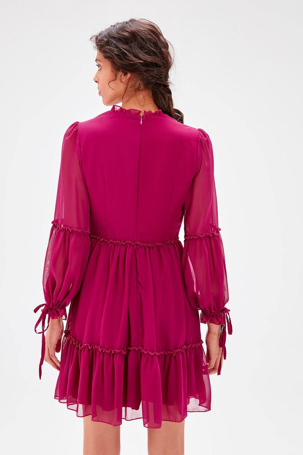 Plum Shirred Dress - Top Maxy