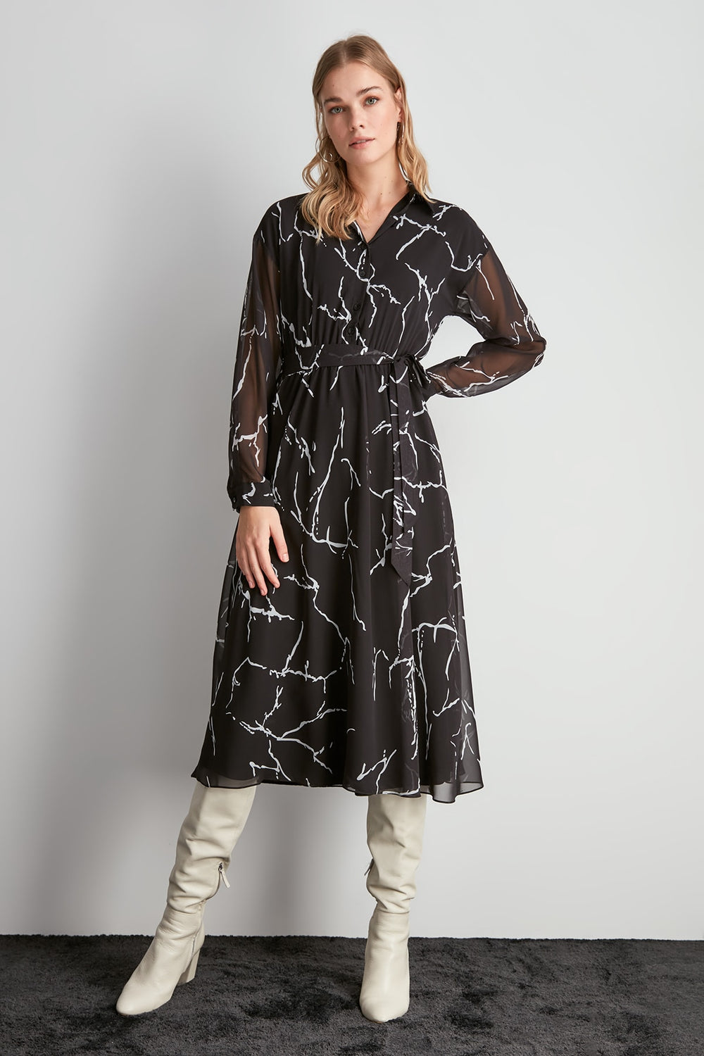 Patterned Dress - Top Maxy