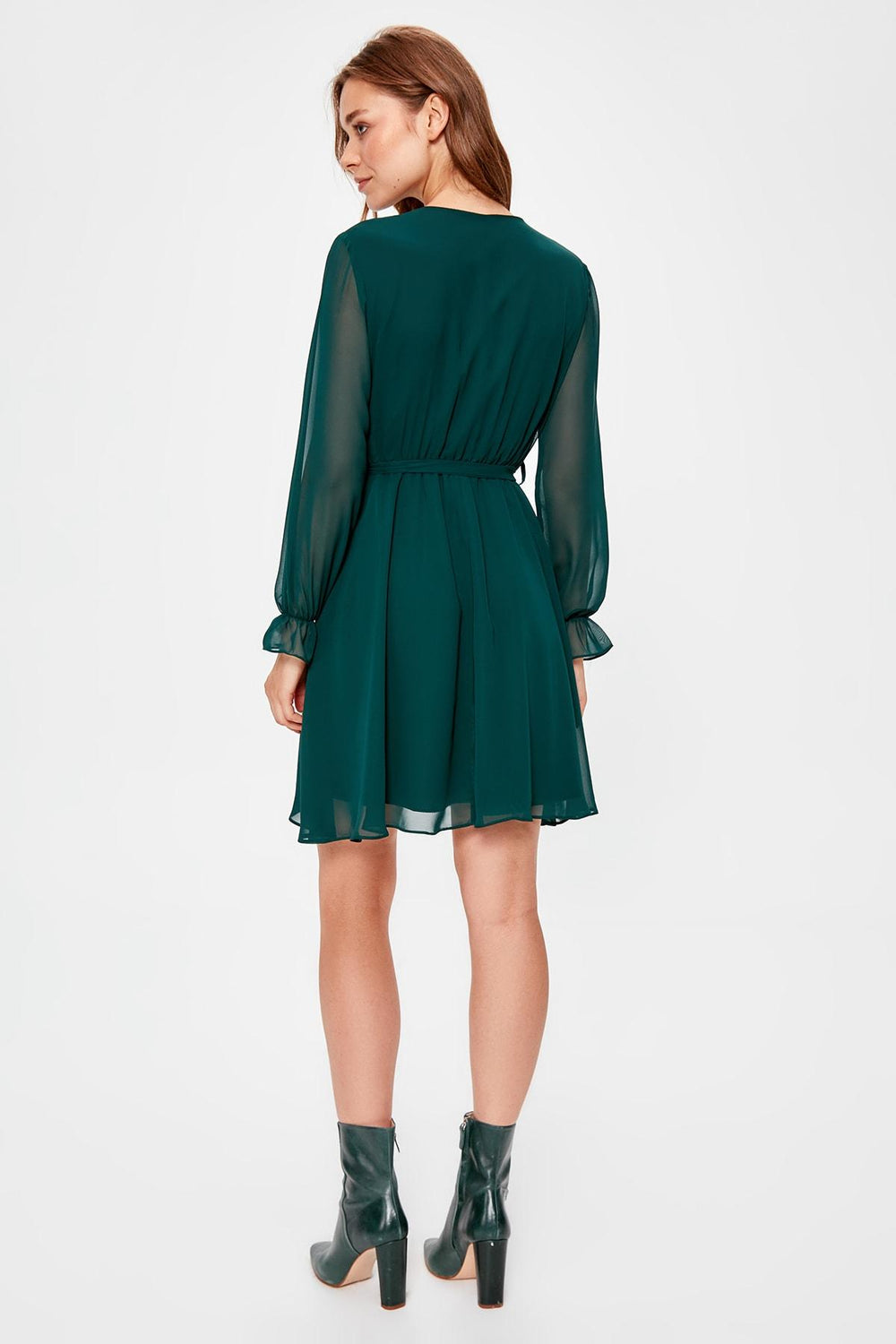 Emerald green Belted Dress - Top Maxy