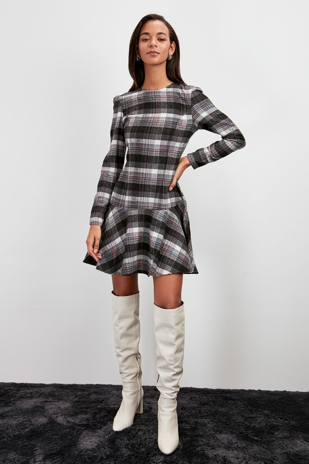 Plaids Dress - Top Maxy
