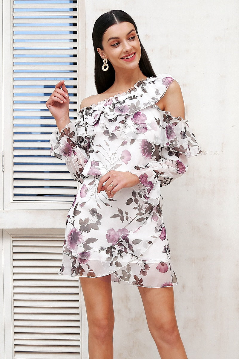Ruffle summer style two piece dress suit - Top Maxy