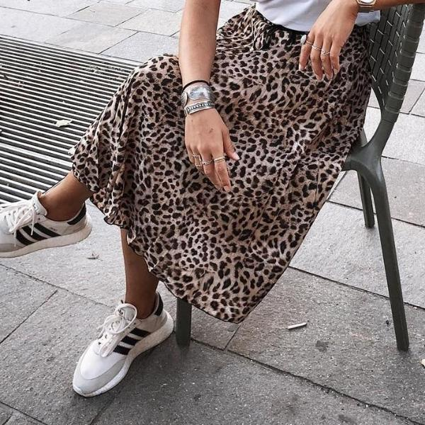 Vintage leopard print pleated skirts - Top Maxy