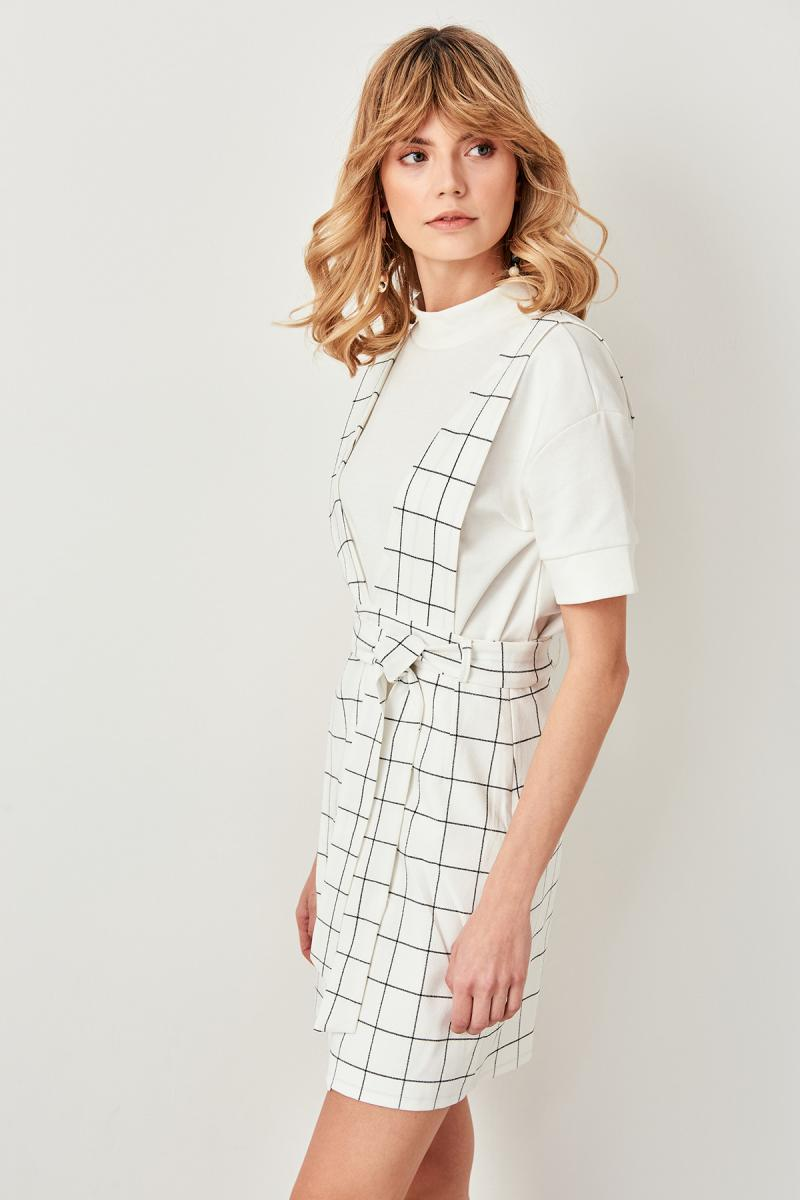 White Salopet Mini Dress - Top Maxy