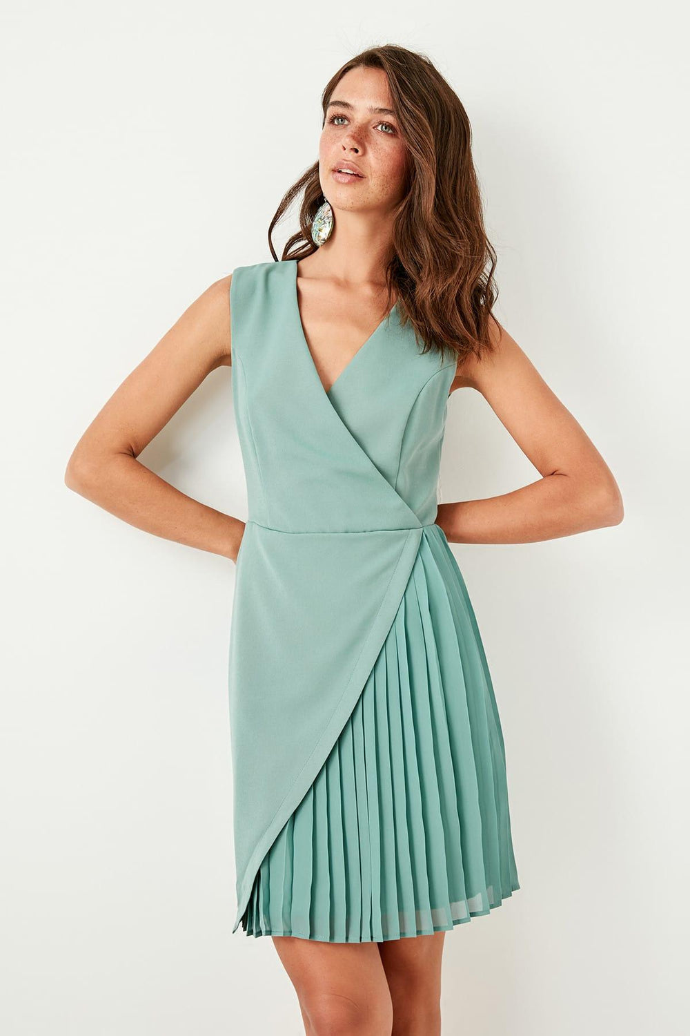 Mint Asymmetrical Dress - Top Maxy