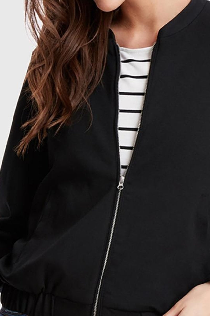 Black Minimalist Streetwear Jacket - Top Maxy