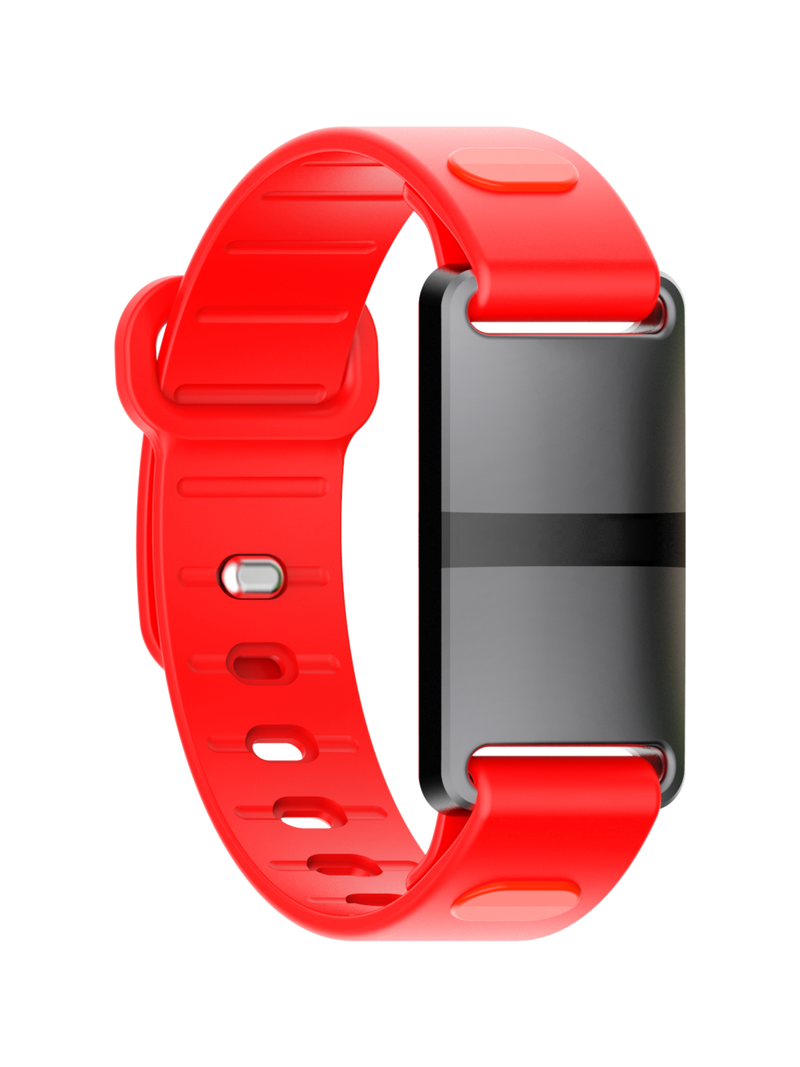 Black Case with Red Sport Strap