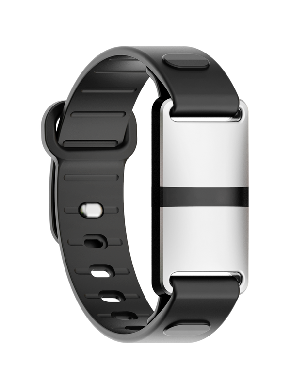 White Case with Black Sport Strap