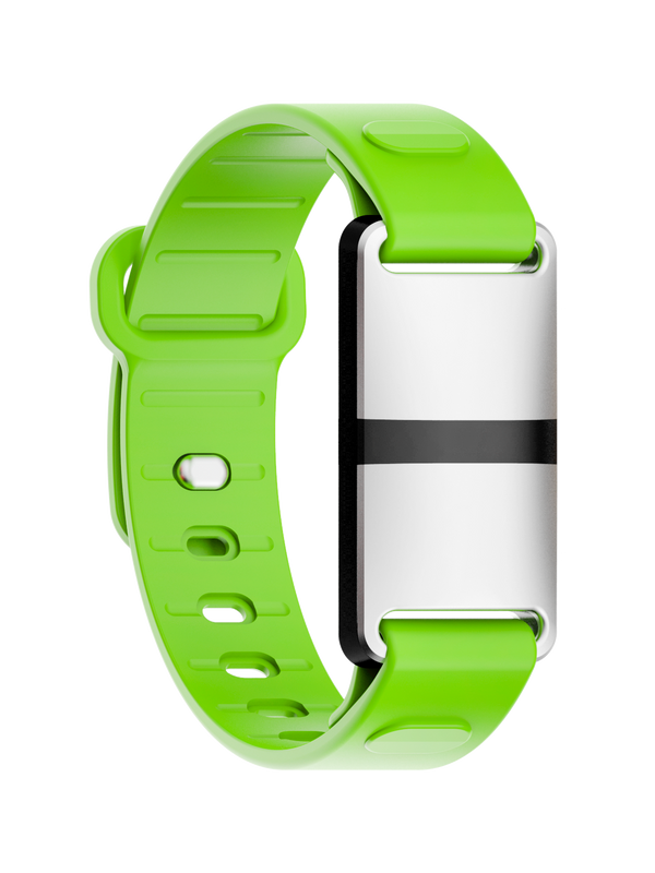 White Case with Green Sport Strap