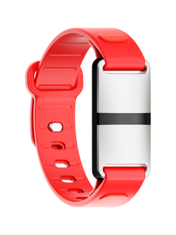 White Case with Red Sport Strap