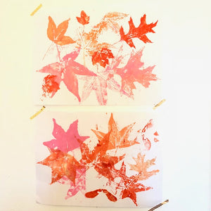 Leaf Printing with Toddlers