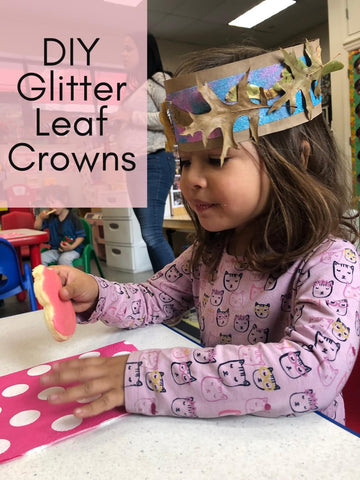 DIY Glitter Leaf Crowns