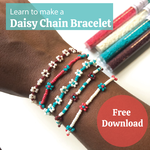 Learn to Make a Daisy Chain Bracelet - Free Tutorial