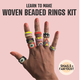 Learn to Make Woven Beaded Rings KIT