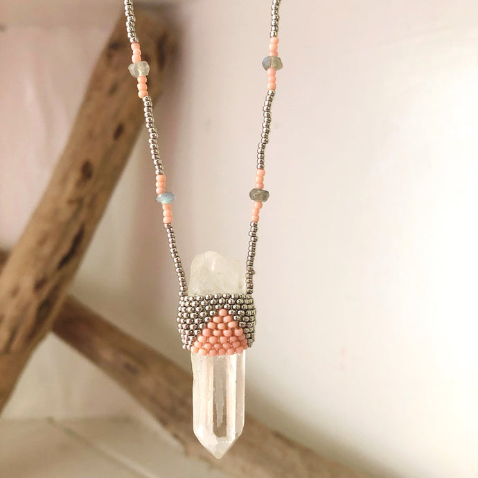 Quartz Crystal Bohemian Pendant Necklace
