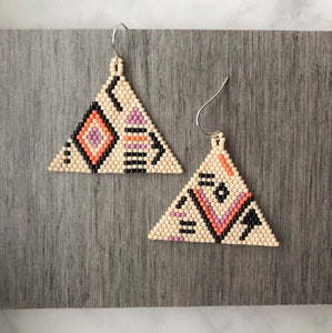 Beaded boho earrings handmade in Brooklyn