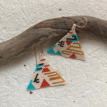 hand woven bead earrings named after goddess Hathor