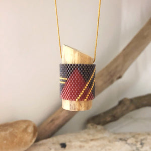 Mantra Necklace - Chestnut