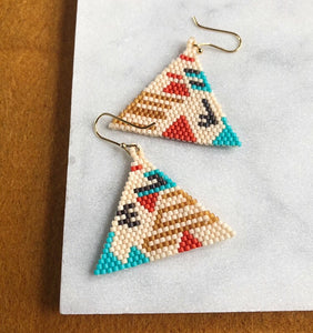 beaded earrings made in Brooklyn by Darcy Le Fleming