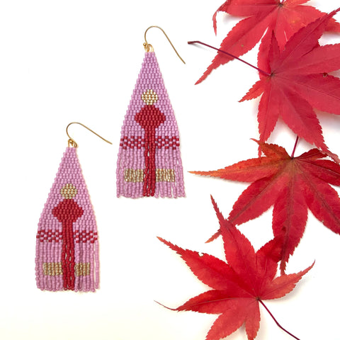 Red Door Fringe Earrings
