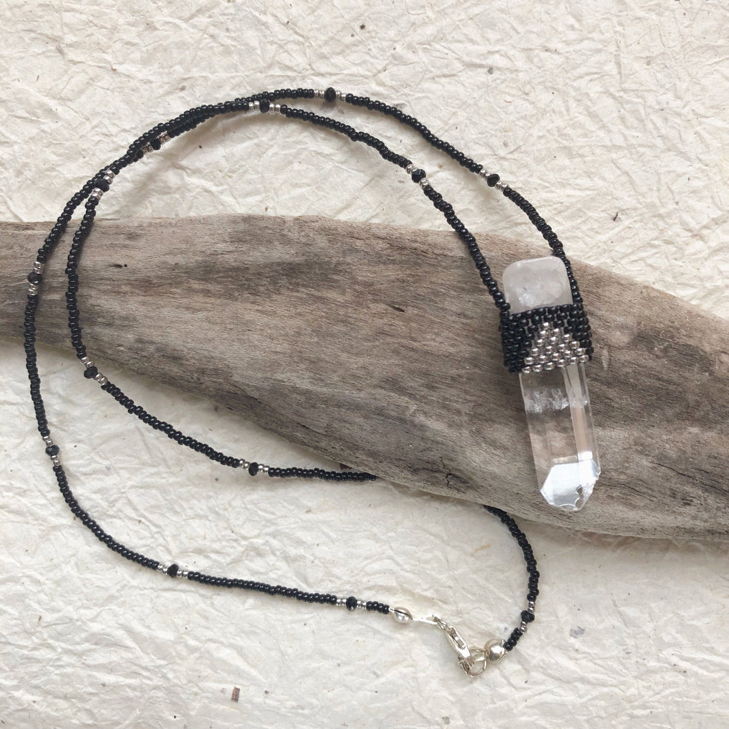 Quartz Crystal Pendant Necklace