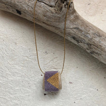 Hand woven beaded mantra or affirmation necklace