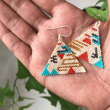 Hand woven Boho earrings made in Brooklyn