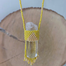Crystal healing pendant handmade in Brooklyn