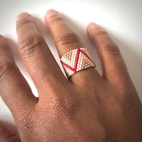 Pink Triangle Ring - size 4.5