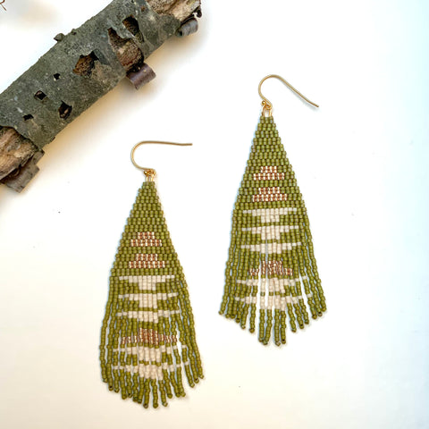 Mossy Moss Fringe Earrings