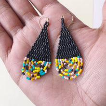 hand woven glass bead earrings