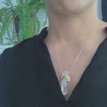 Crystal Pendant - Navy & Ivory