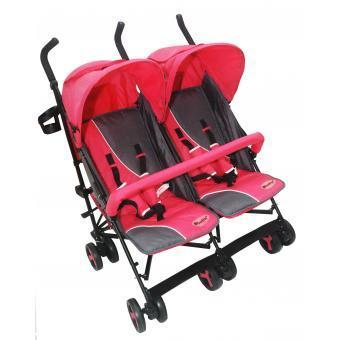 Coche twin baby Ebaby 123 rosa