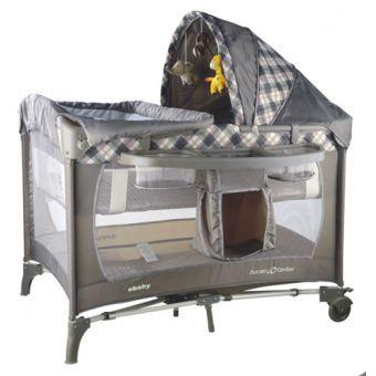 Corral cuna Ebaby Scottish Ccs777 gris