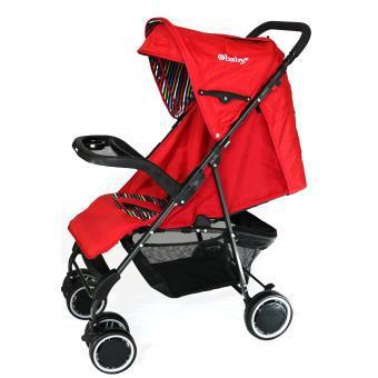COCHE PASEADOR EBABY ABY ON BOARD ROJO130