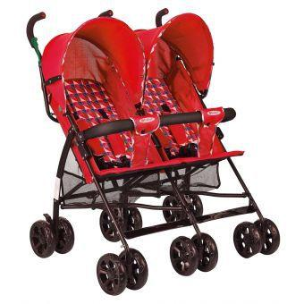 Coche gemelar Ebaby red twin Ccro1261